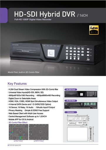 Depliant 4NSYS DVR HD SDI16