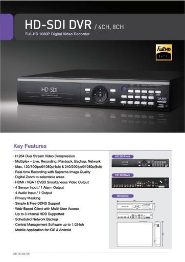 Depliant 4NSYS DVR HD SDI 4e8