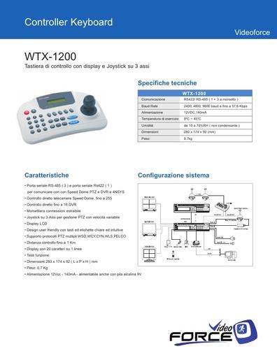 Depliant WTX 1200   Tastiera con display e joystick