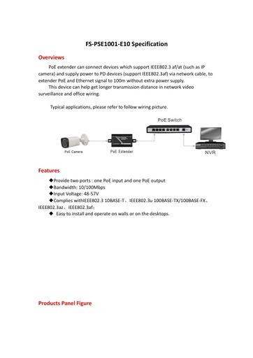 FS PSE1001 E10   PoE EXTENDER